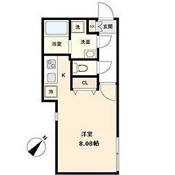 名古屋市営東山線 覚王山駅 徒歩5分の賃貸マンション 1階1Kの間取り