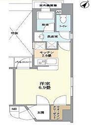 グランドパーク渋谷ブランシェ[5階]の間取り