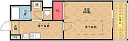 ルネスベレーザ[1階]の間取り
