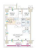 3LDKまたは4LDKに出来るお部屋を何と大胆にも2LDK使用に。広々なドレッサールーム付きです。