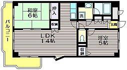 ココパームス千歳台[2階]の間取り
