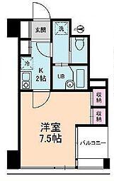 東京都中央区日本橋馬喰町2丁目の賃貸マンションの間取り