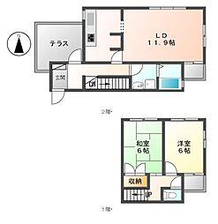 アビタ覚王山[3階]の間取り