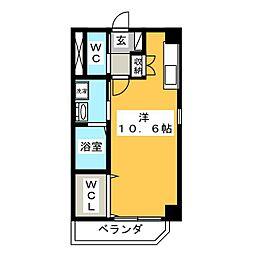 SKT homes 2階ワンルームの間取り