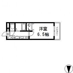 LADY'SDORMII(レディースドーム)[202号室号室]の間取り