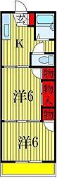 千葉県船橋市南本町の賃貸アパートの間取り