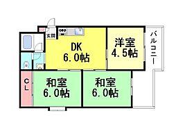 フォルム六甲道[306号室]の間取り