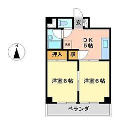 エムズハウス栄[7階]の間取り