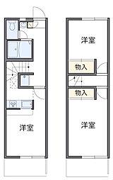 東京都町田市金森6丁目の賃貸アパートの間取り