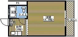 コーポふる里A[202号室]の間取り