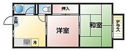 コーポ ヤワタ[1階]の間取り
