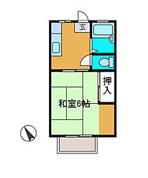 吉川ハイツ2[1階]の間取り