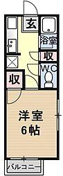 ハイツ澤田[106号室号室]の間取り
