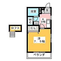 ミキスクエア鴨田[3階]の間取り