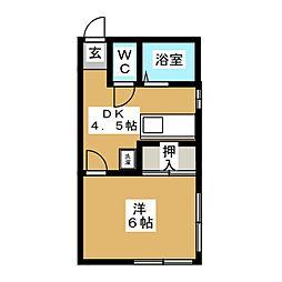 Feel Fine OKUNO[2階]の間取り