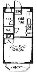 北町大いちマンション[208号室]の間取り