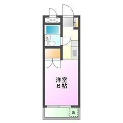 東京都八王子市長房町の賃貸マンションの間取り