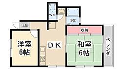 パークマンション[202号室]の間取り