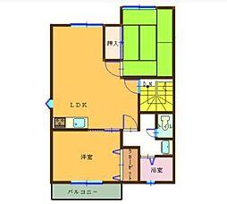 フローラルハウス[A201号室]の間取り