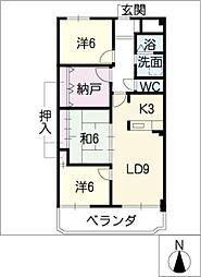 アリイヒルズ覚王山[2階]の間取り