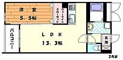パースペクティブ古賀ししぶ駅前[2階]の間取り