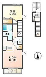 サン・ウィステリア[2階]の間取り