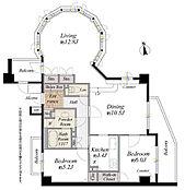 間取り図/専有面積80.68平米、最上階・三方向角部屋につき陽あたり眺望良好です