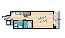 エスリード京橋ノースプレイス[507号室号室]の間取り