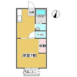 モンマルトルB[1階]の間取り