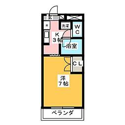 アネックス・シオガマ[2階]の間取り