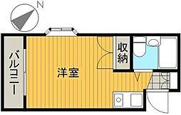 東京都江戸川区南篠崎町3丁目の賃貸マンションの間取り