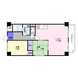 平成ハイツ壱番館[3階]の間取り