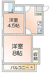 第1広田マンション[402号室]の間取り