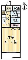 栃木県鹿沼市貝島町の賃貸アパートの間取り