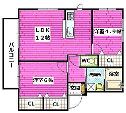 シャーメゾン熊野東 C棟[1階]の間取り