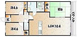 藤和ハイタウン企救丘駅前[9階]の間取り