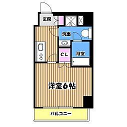 東京都八王子市南町の賃貸マンションの間取り