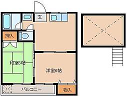 シティベール山下八番館[1階]の間取り