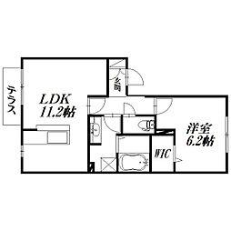 静岡県浜松市東区将監町の賃貸アパートの間取り