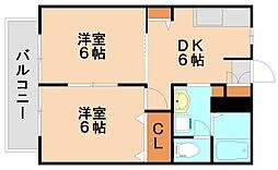 ルミエールイズミ[2階]の間取り