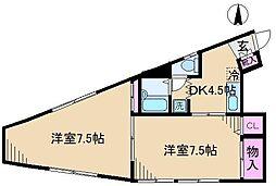 ヒルズハウス[2階]の間取り