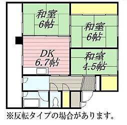 雇用促進住宅 東月寒[3-302号室]の間取り