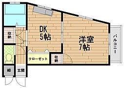 エステート花隈[2階]の間取り