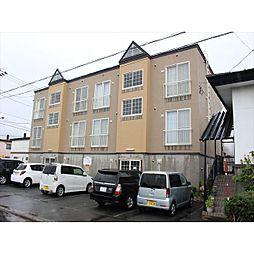 北海道北見市朝日町の賃貸アパートの外観