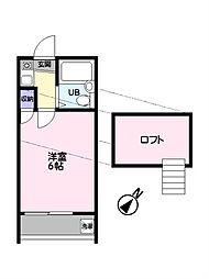 メゾン・ド・ソレイユ[203号室]の間取り