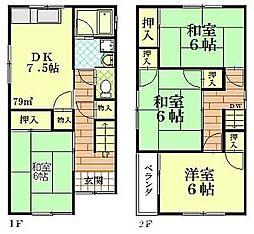 [一戸建] 大阪府枚方市高田2丁目 の賃貸【/】の間取り