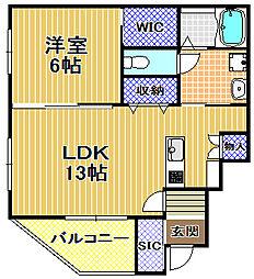 ワイズグリーン2[1階]の間取り