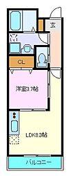 仙台市営南北線 長町一丁目駅 徒歩9分の賃貸アパート 3階1LDKの間取り