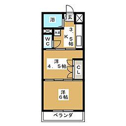 ソフィア[3階]の間取り