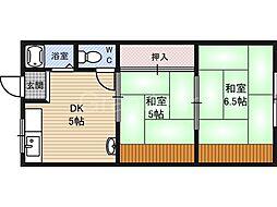 メゾン茨田[1階]の間取り
